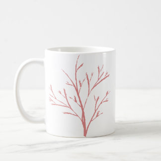 Tasse rose élégante de classique de plante