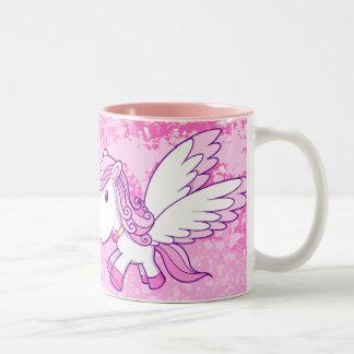 Tasse rose mignonne de poney de Pegasus