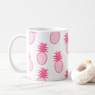 Tasse rose tropicale mignonne d'ananas