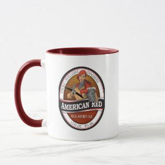 Tasse rouge américaine