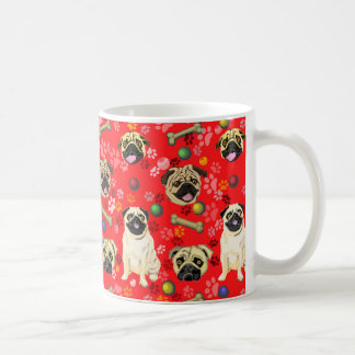 Tasse rouge de conception de carlin