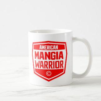 Tasse rouge de copyright de logo d'AMW