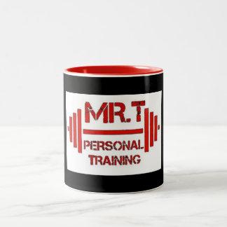 Tasse rouge de logo de formation personnelle de