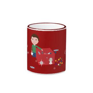 Tasse rouge de sonnerie de boîte de décoration de