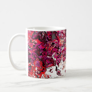 Tasse rouge florale de concepteur de remous