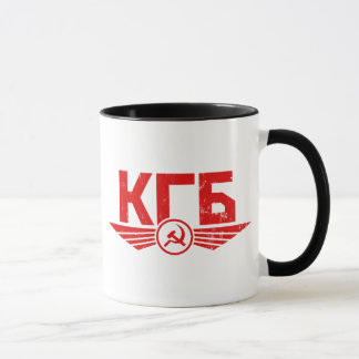 Tasse russe d'emblème de KGB