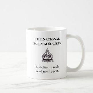 Tasse sarcastique - la société nationale de