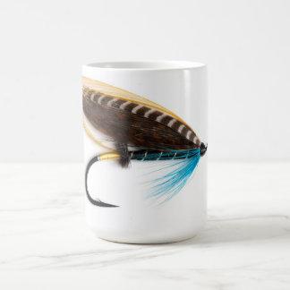 Tasse saumonée de mouche de charme bleu