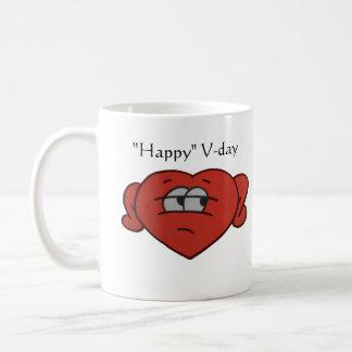 Tasse sceptique du jour de Valentine