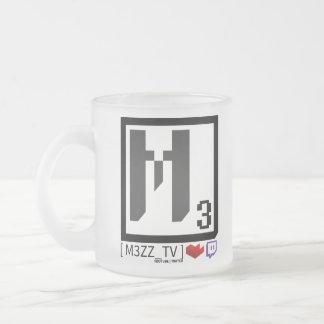 Tasse sociale en verre de logo de M3ZZ_TV
