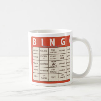 Tasse spéciale de bureau de bingo-test de mots à