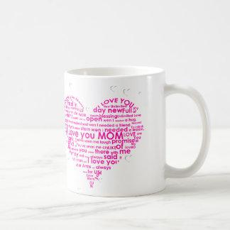 Tasse spéciale de jour de mères pendant toutes les