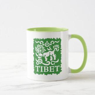 Tasse tibétaine de thé et de café de lion de neige