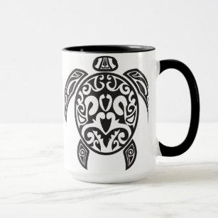 Mugs Tasses Bouteilles Tatouage De Tortue Zazzle Fr