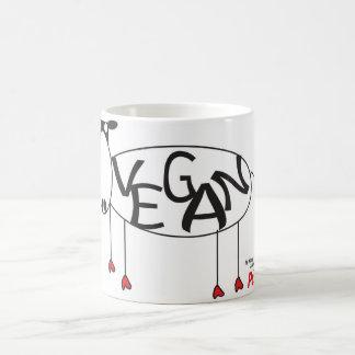 Tasse végétalienne de vache