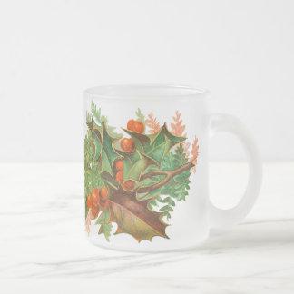 Tasse victorienne de Noël de houx