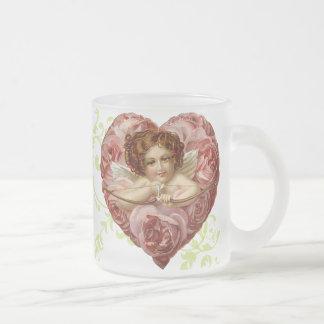 Tasse victorienne de Valentines d'ange