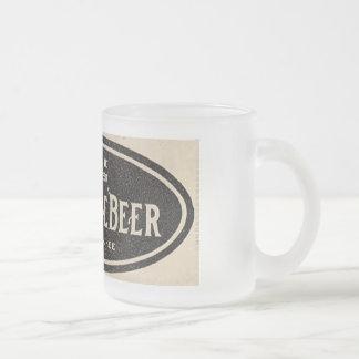 Tasse vintage d'annonce de bière