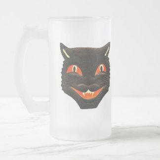 Tasse vintage de chat noir
