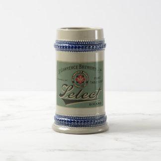 Tasse vintage de publicité de bière