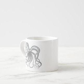 Tasse vintage de tasse de dessin de poulpe nautiqu tasse expresso