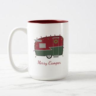 Tasse vintage de vacances de Noël de campeur