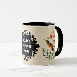 Tasse vintage d'oiseau de ronflement de la plus