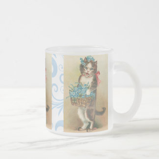 Tasse vintage mignonne de chaton