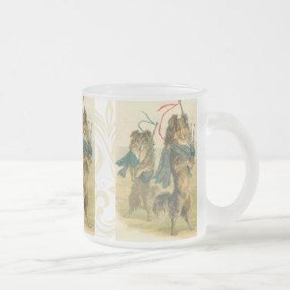 Tasse vintage mignonne de chien