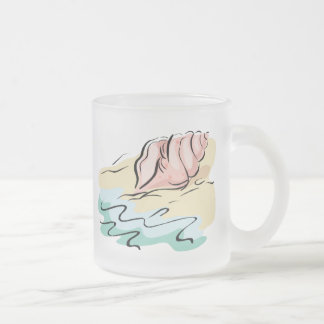 Tasses abstraites de coquillage, Steins et tasses