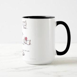 Tasses chaudes de kittys