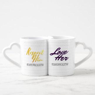 Tasses chrétiennes de couples