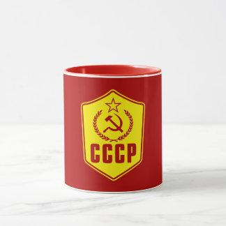 Tasses communistes d'emblème de CCCP