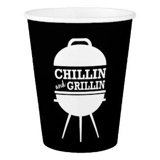 Tasses de BBQ de Chillin et de Grillin Gobelets En Papier