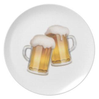 Tasses de bière tintantes - Emoji Assiette