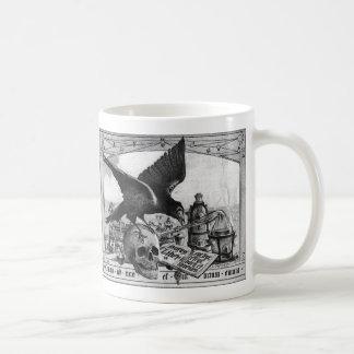 Tasses de café de laboratoire d'alchimie