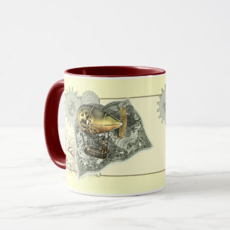Tasses de café dirigeables de visite d'air de