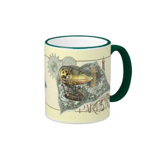 Tasses de café dirigeables de visite d'air de Stea