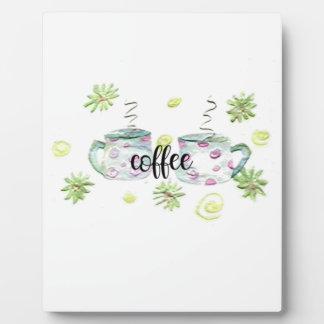 Tasses de café plaque photo