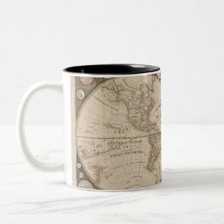 Tasses de carte de Vieux Monde