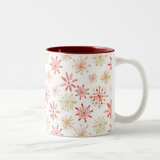 Tasses de flocon de neige d'aquarelle