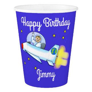 Tasses de papier d'astronaute gobelets en papier
