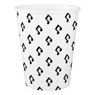 Tasses de papier de motif de note de musique gobelets en papier