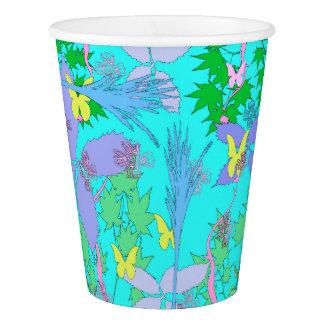 Tasses de papier de motif floral gobelets en papier