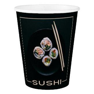 Tasses de papier de sushi gobelets en papier