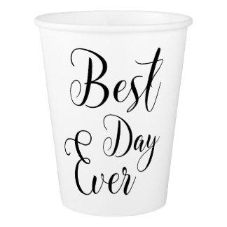 """Tasses de papier du """"meilleur jour jamais"""" gobelets en papier"""