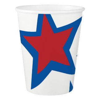 Tasses de papier patriotiques gobelets en papier