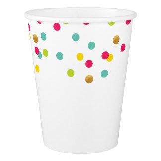 Tasses de partie de confettis gobelets en papier