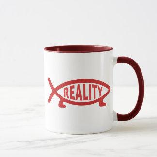 Tasses de poissons de Darwin de réalité