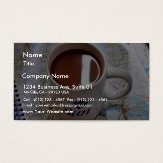 Tasses de tasses de café cartes de visite